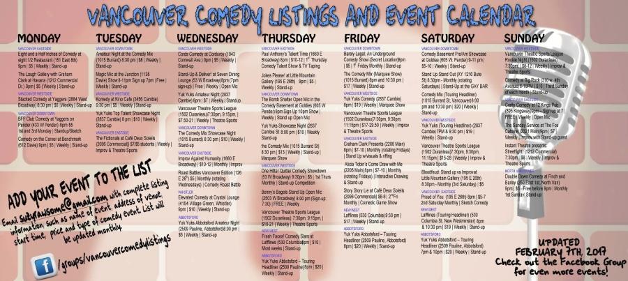 Comedy Calendar